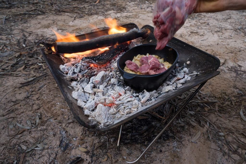 campfire lamb and vegetable stew 8