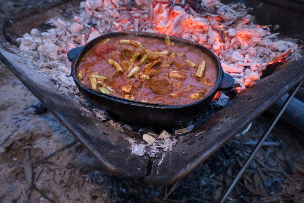 campfire lamb and vegetable stew 10