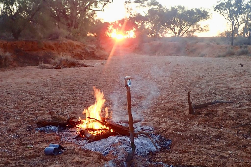 burning your camp rubbish 1