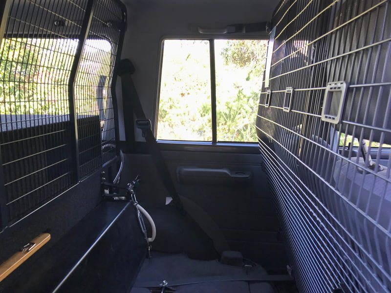 76 Series LandCruiser Rear Seat Touring Setup
