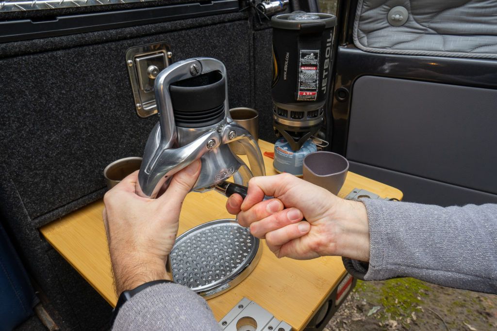 Pull pro-quality shots with the ROK Espresso Maker 6