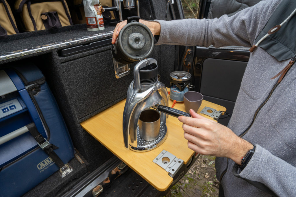 Pull pro-quality shots with the ROK Espresso Maker 7